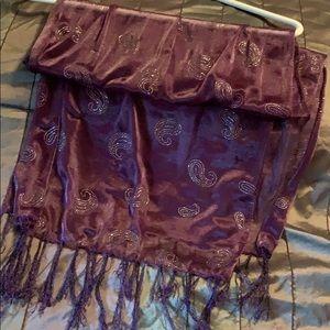 Accessories - Purple sheer scarf